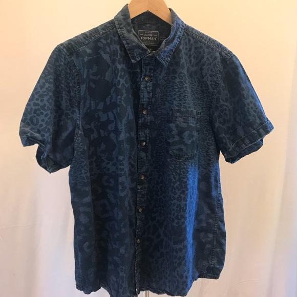68b1178d0087 Topman Leopard Print Shirt. M_5b36c401619745d4fb1f480f